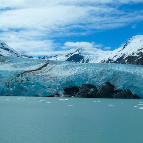 Portage Glacier by Jason Kiefer - Landscapes Mountains & Hills ( , Alaska )