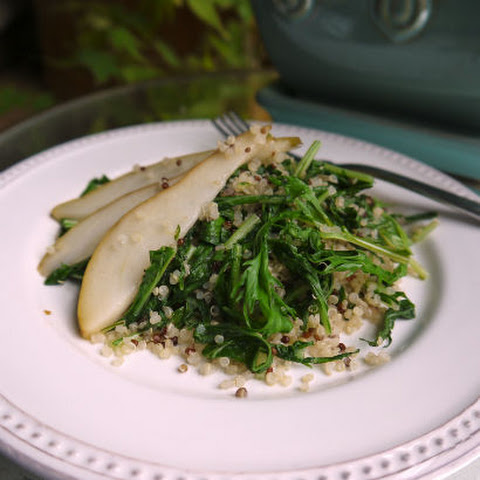 Mizuna, Quinoa and Pear Salad