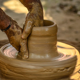 Pot Making  by Anita Sathiam - Artistic Objects Cups, Plates & Utensils