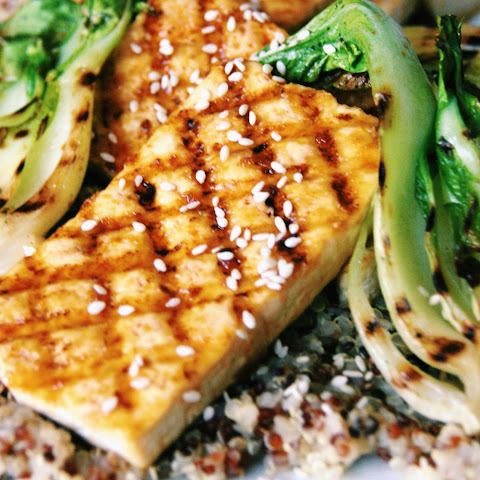 Grilled Tofu Steaks With Orange Ginger Glaze [Vegan]