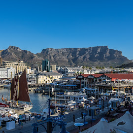 waterfront by Peter Schoeman - Landscapes Travel ( table mountain, big wheel, victoria and alfred waterfront, sail boat, cape town, lions head )