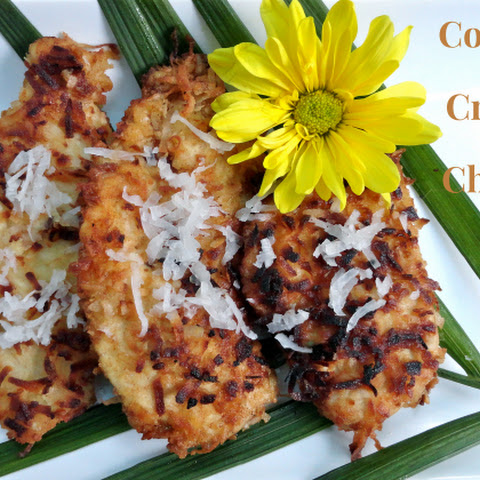 Coconut Crusted Chicken with Plum Dipping Sauce