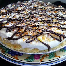 Chocolate Coconut Macadamia Nut Cream Pie
