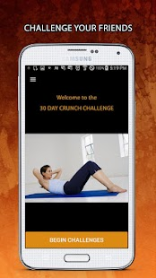 30 Day Crunch Challenge Fitness app screenshot for Android