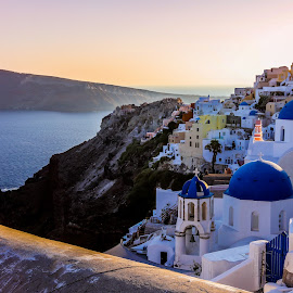 Oia by Aamir DreamPix - City,  Street & Park  Vistas ( beaches, greece, islands, island, oia, beach, santorini, europe )