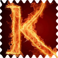 The fiery letter K Live WP