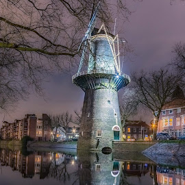 Windmill Schiedam Netherlands by Henk Smit - Buildings & Architecture Statues & Monuments