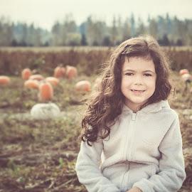 Pumpkin Patch by Jenny Hammer - Babies & Children Child Portraits ( child, pumpkin patch, girl, pumpkins, cute )