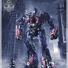 Optimus Prime by Fazrul Mustaqim - Digital Art Things ( transformer, robot, photoshop )