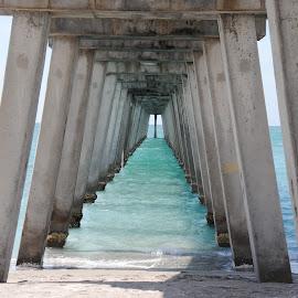 Under the pier Venice Beach, FL by Margaret Potter - Buildings & Architecture Architectural Detail