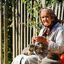 by Sorin Lazar - People Portraits of Women ( old woman, portrait )