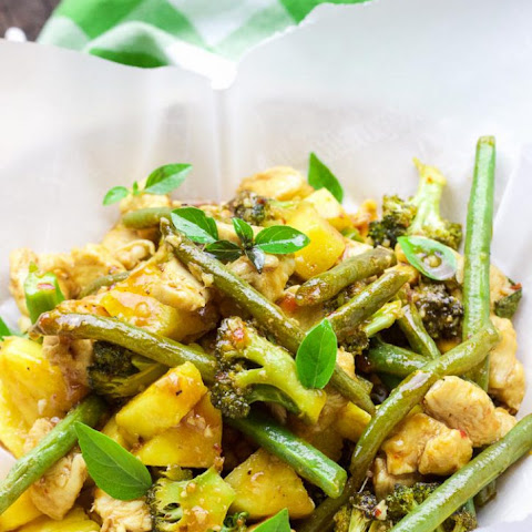 Pineapple Basil Thai Chicken
