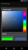 Screenshot of Light Manager - LED Settings