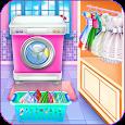 Olivia's washing laundry game