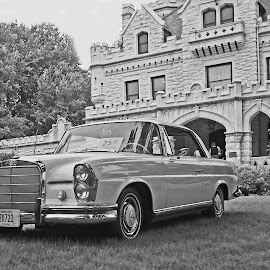 A Classic From 65 by Howard Mattix - Transportation Automobiles ( automobiles, transporation, black and white, auto shows, antiques )