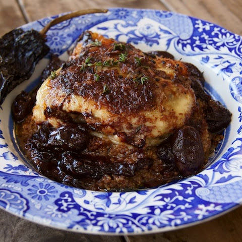 Ancho Chile-Red Wine and Grape Roasted Chicken and Quinoa