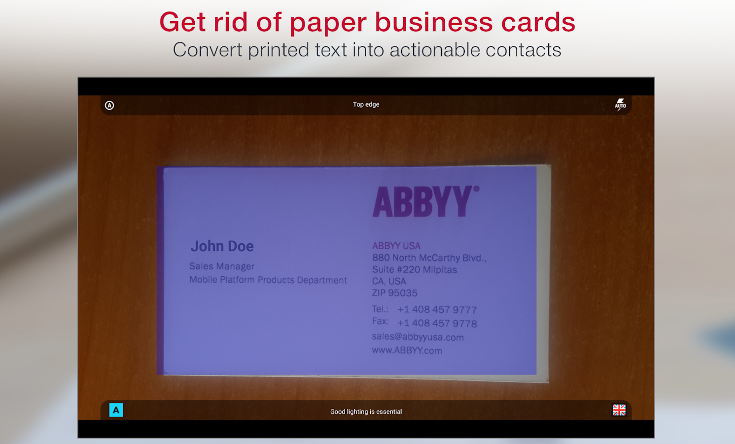 Business Card Reader Pro Screenshot 5