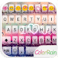 Free Download COLOR RAIN Emoji Keyboard Skin APK for Samsung