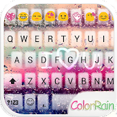 Download Full COLOR RAIN Emoji Keyboard Skin 1.7.2 APK