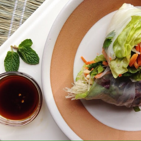 Spring Rolls with Honey-Soy Dipping Sauce
