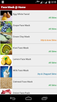 Screenshot of Homemade Face Masks