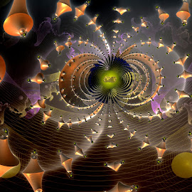 Torus by Rick Eskridge - Illustration Sci Fi & Fantasy ( fantasy, jwildfire, mb3d, fractal, twisted brush )