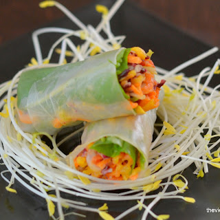 Spicy Asian Slaw Summer Rolls