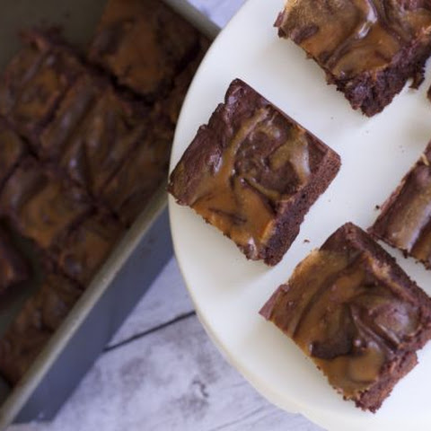 Low Fat Peanut Butter Swirled Brownies