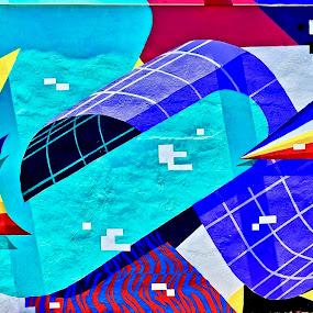 The Wynwood Walls, Miami, FL by Neil Dern - Abstract Patterns ( wall art, patterns, abstract art, colors, street art )