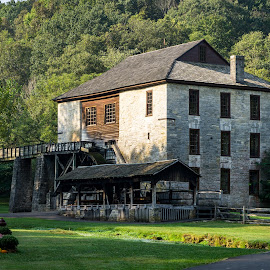 Spring Mill Gristmill by Matt Pranger - Buildings & Architecture Public & Historical ( landmark, mill, spring mill, state park, historic, gristmill )