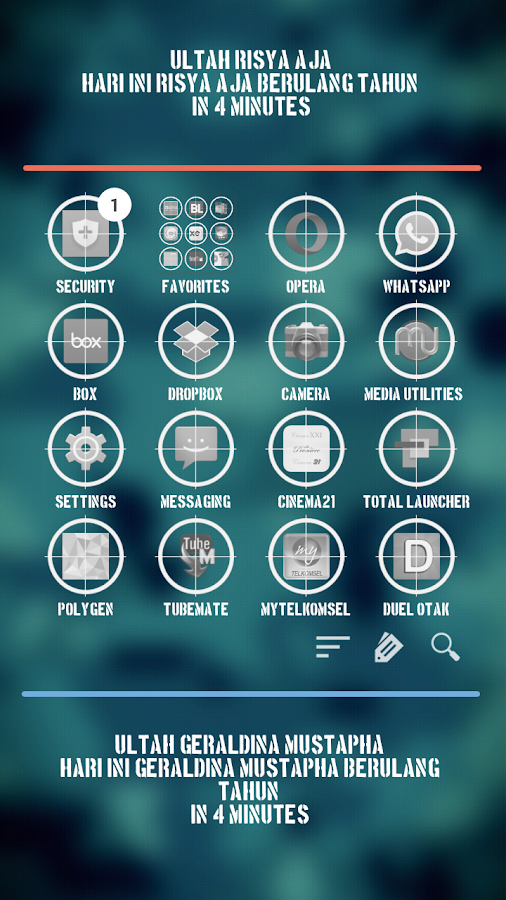 Radar Theme Total Launcher Screenshot 1