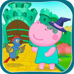 Funny adventures of Hippo in family fairy tale - The wizard of Oz APK Icon