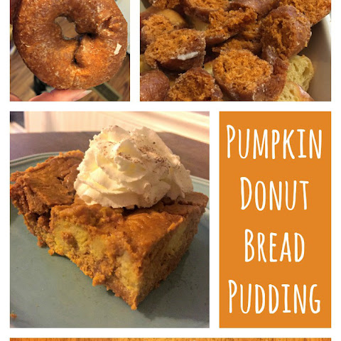Pumpkin Donut Bread Pudding