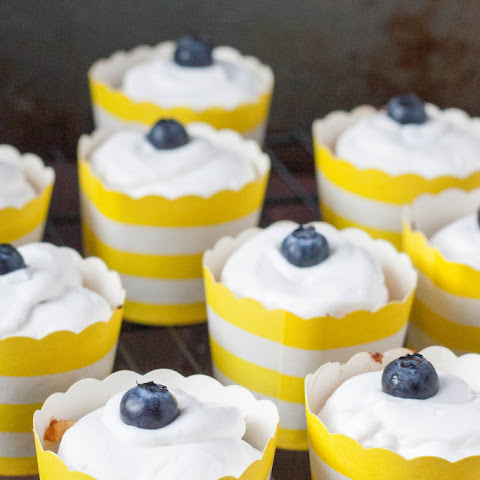 Paleo Lemon Blueberry Cupcakes {Nut Free}