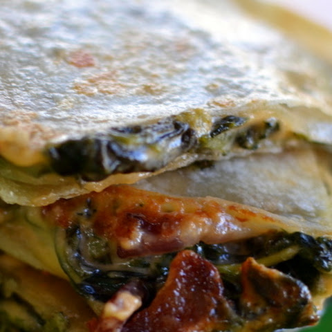 Bacon & Spinach Dip Quesadilla