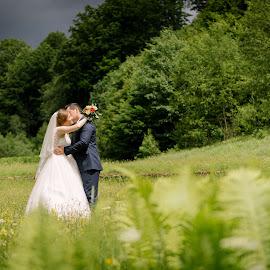 Greenery by Klaudia Klu - Wedding Bride & Groom ( love, kiss, green, white, bride, groom )