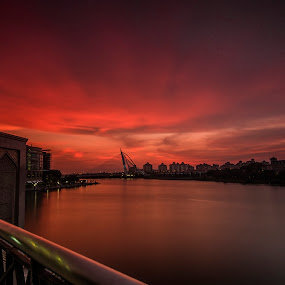 Putrajaya Sunset  by Zack Zaidi - Landscapes Sunsets & Sunrises ( waterscape, putrajaya, beautiful, malaysia, res sunset )