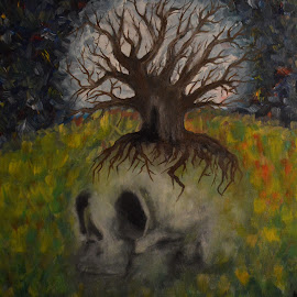 The balance by Maria Gerolymatou - Drawing All Drawing ( balance, skull, life, tree, death )
