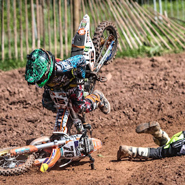 I'm tired! by Ady Cowshall - Sports & Fitness Motorsports ( dirtykids, motocross, mx, ktm, crash )
