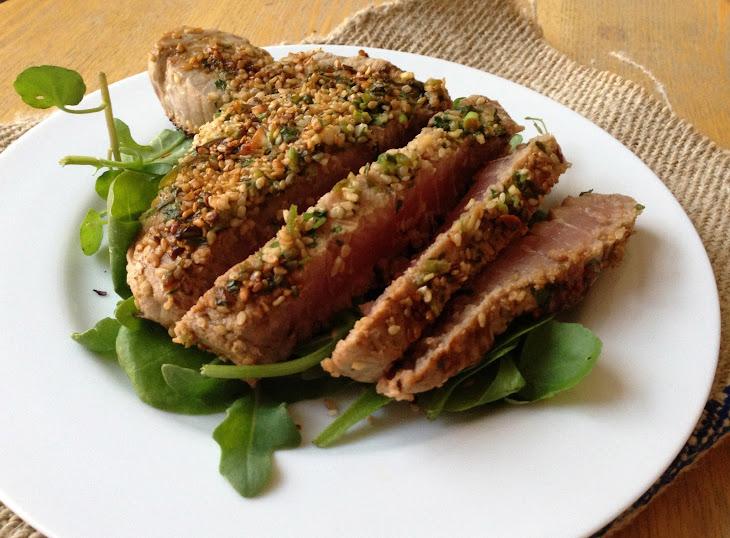 Marinated Tuna Steak with a Sesame Crust Recept | Yummly