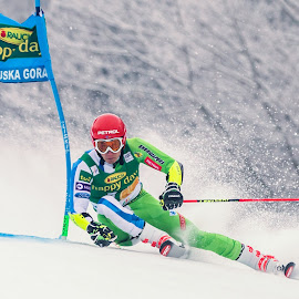 Zan Kranjec (SLO)  by Urban Meglič - Sports & Fitness Snow Sports ( pokal vitranc, ski, 57. pokal vitranc, sports, 50th anniversary of the first world cup race in kranjska gora, smucarski, sport, winter sports, alpine )