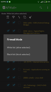 AFWall+ (Android Firewall +) Screenshot