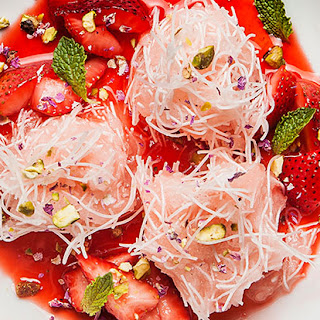 """Faloodeh"" (Rose Granita with Frozen Rice Noodles)"