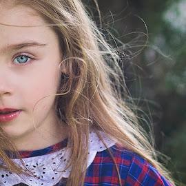 pretty in the rain xx by Melissa Marie Gomersall - Babies & Children Child Portraits ( child, raining, bright, cute, hair, messy, eyes )