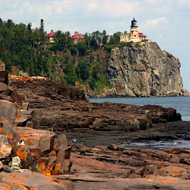 Split Rock by Scott Block - Uncategorized All Uncategorized ( minnesota, lighthouse, split rock lighthouse, landscape, rocks,  )