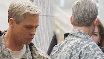 PAY-Brad-Pitt-on-set-with-his-hair-dyed-grey