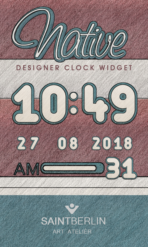 Native Digital Clock Widget Screenshot