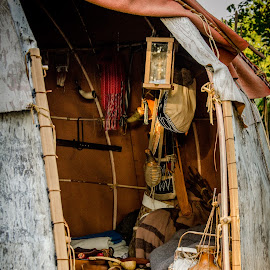 Inside the  wigwam by Florin Marksteiner - Artistic Objects Antiques ( vintage, tecumseh, tribal confederacy, war of 1812, united states, united kingdom, american army, first nations, history, thames, moraviantown, british army, wigwam, antique, upper canada )