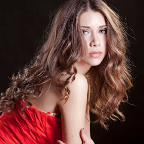 by Јанус Т. - People Portraits of Women ( women, lady, red )