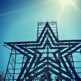 The Roanoke Star by Mary Kaye Zugelder - Buildings & Architecture Public & Historical ( illuminated, spirit, virginia, steel, roanoke, world's largest,  )